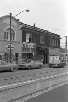 Forbes Avenue in Squirrel Hill; 1969. Too funny the Squirrel Hill cafe exterior has not changed!