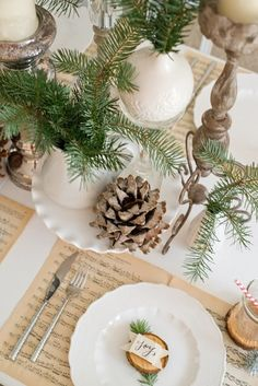 45 Ideas for Decorating Your Christmas Table