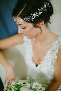 bohemian headpiece, photo by Emily Delamater http://ruffledblog.com/marianmade-farm-wedding #wedding #accessories #bridal