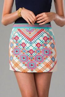 This #patterned #skirt is a must have this #summer