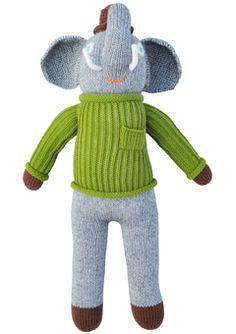 elephants, knit doll, blabla doll, hercul, toy, theme parti, knitted dolls, babi boy, kid