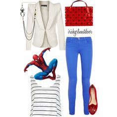 """Spidey Sense"" by irishgrlnextdoor on Polyvore spiderman inspired outfit for women."