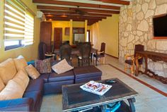 Livingroom. Hacienda del Rio, Retirement and Custom Homes. Playa del Carmen real estate area.