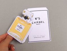 Chanel no.5 note card with chanel envelop. $4.50, via Etsy.