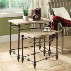 cute nesting table set