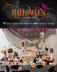 Halloween Styling: 11 Easy & Effective Ideas for ANY Spooky Soirée! #halloween #party