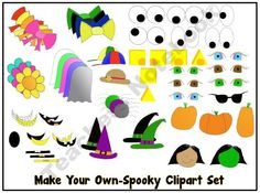 make your own clipart!-put pieces together to create fun images!