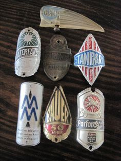 bike headbadges - interesting thing to collect @Mary Powers Corcoran Crawford