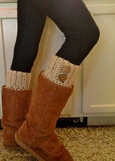 Crochet Boot Cuffs Boot Cuff  ANY COLOR  by BrotherEarthBoutique, $22.00