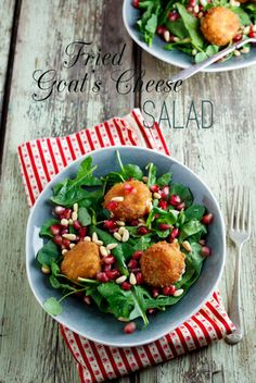 Fried Goat's Cheese salad