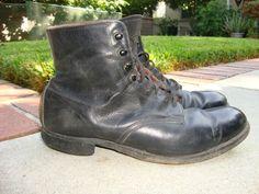 men boot, black boots