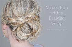 holiday parties, hair tutorials, small thing, wedding hairs, messy buns, messi bun, braid wrap, bridesmaid hairstyles, new hairstyles