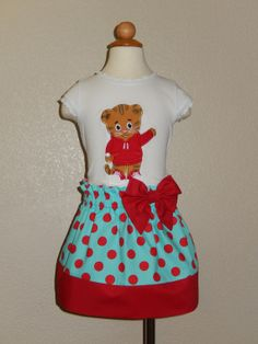 Daniel Tiger's Neighborhood T-shirt and Skirt Outfit