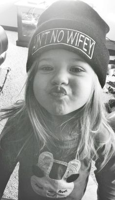 kid beanies, hats, kiss, little girls, ain't no wifey, aint no wifey beanie, children, babi, future kids