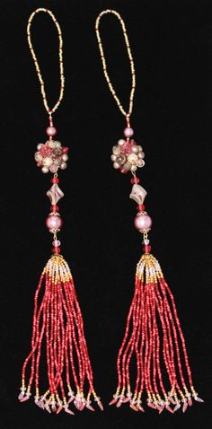 BEADED TASSELS Vintage pearls in shades of by GMBDesignsCustom, $30.00