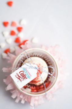 You take the cake printable valentines