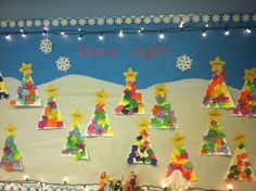 christmas board preschool | Christmas bulletin board by the wonderful Mrs. ... | Preschool Bullet ...