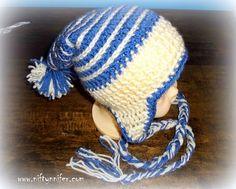 Free Crochet Pattern ~ Baby Ice Spiral Hat