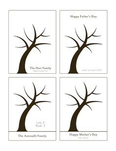 Fathers Day Handprint Tree // 11x14 inch print by thecolorloft, $15.75 ...