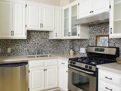 White Kitchen+Tile Backsplash.