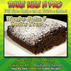 Chocolate Wacky Cake Recipe - 100% Dairy Free Chocolate Cake Recipe This is MY revised recipe of the original Chocolate wacky cake recipe I posted about a month ago. ►My Facebook Page: www.facebook.com/... My Twitter: twitter.com/... instagram.com/... Please subscribe, like and share if you can, I do appreciate it. bit.ly/1ucapVH
