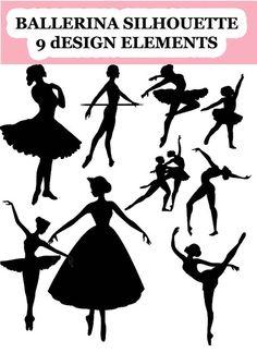 Siluetas de bailarinas