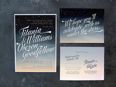 Titania and Oberon  Ombre night sky wedding by thefuturemrsdarcy, $5.00