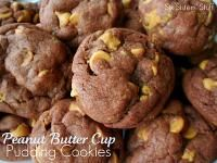 Six Sisters Peanut Butter Cup Pudding Cookies.  So moist with pudding in the dough!