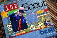 Boy Scout scrapbook layout
