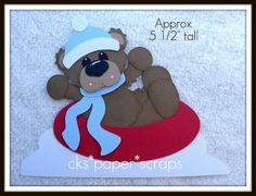 cute on a winter card or page!