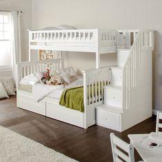 idea, bunk beds, columbia twin, stairway bunk, twins, kid room, stairways, bedroom, girl rooms