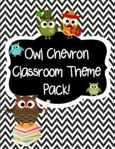 owl school theme, classroom theme, owl thems for classrooms, owl theme for classroom, owl chevron classroom, owl and chevron classroom, classroom owl theme, chevron owl classroom