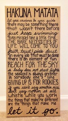 Inspirational Disney quotes on a burlap canvas! I must have this!!!