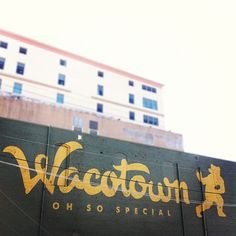 Cool art mural in downtown Waco from @Mike Trozzo... // #Wacotown project 1 #Baylor #RG3 #RGIII