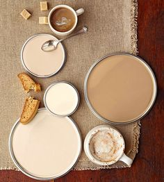 """We like these colors a """"latte""""! Find more neutral paint colors here: http://www.bhg.com/decorating/color/neutrals/neutral-paint-colors/?socsrc=bhgpin081014creamylattepaintcolors&page=2"""