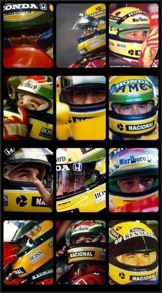 Sena Helmet: possibly the most famous helmet in the history of formula 1.