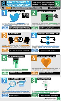 8 Types Of Tweet That Drive Engagement On #Twitter - #infographic #socialmedia