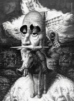 """""""The poet may describe or sing things, not as they are, but as they ought to have been, while the historian has to write them down, not as they ought to have been, but as they were.""""  —Miguel de Cervantes, Don Quixote"""