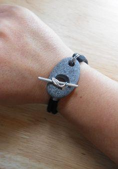 Beach Stone Jewelry  Rock Bracelet