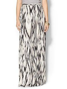 graphic maxi skirt