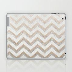 NUDE CHEVRON Laptop & iPad Skin by Monika Strigel - $25.00 Getting this for my laptop, I loveeeee