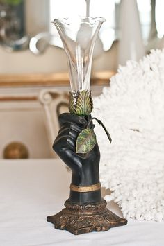 Victorian Blackamoor Hand Vase