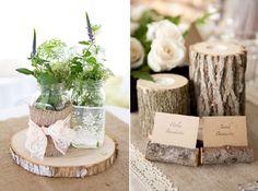 Mariage champ tre on pinterest - Deco champetre pour table ...