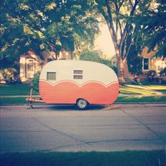 retro trailers, vintage trailers, camper trailers, camp trailers, summer camping, paint designs, vintage caravans, vintage travel trailers, vintage campers