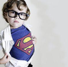 Such a cute Clark Kent/Superman costume!