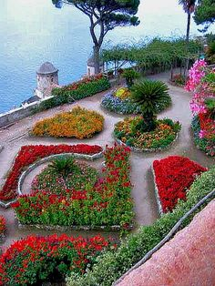 Ravello gardens. province of Salerno, Campania region italy