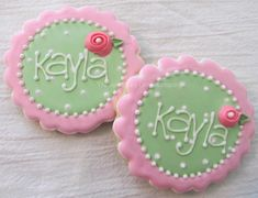 shabby chic cookie idea: Doll House & Paper Doll Party
