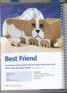 BEST FRIEND TISSUE BOX COVER 1