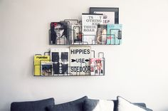 wall art, wall displays, book storage, magazines, wall shelves