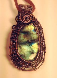 Unique Oxidized Copper Wire Wrapped Quality by CraftsbyLayna, $35.00